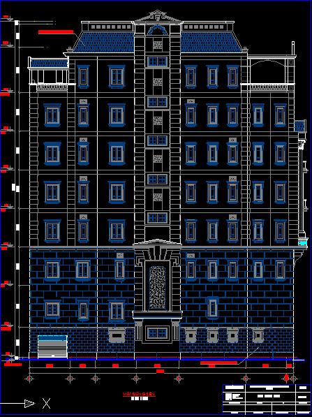 Mẫu thiết kế nhà 8 tầng, download free bản vẽ autocad