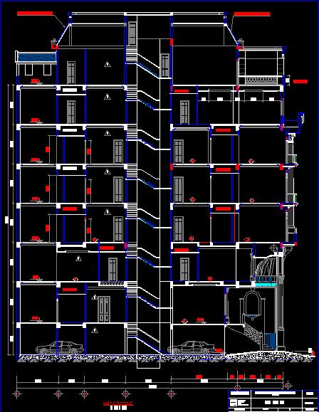 Mẫu thiết kế nhà cao tầng, download free bản vẽ autocad