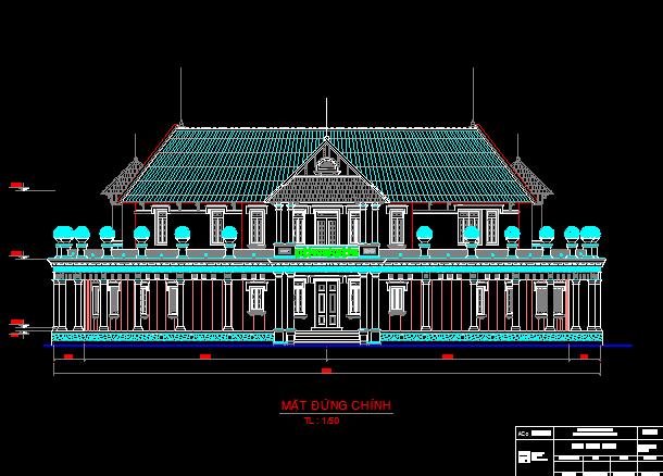 Mẫu thiết kế nhà hình bán nguyệt R=16mx2 tầng