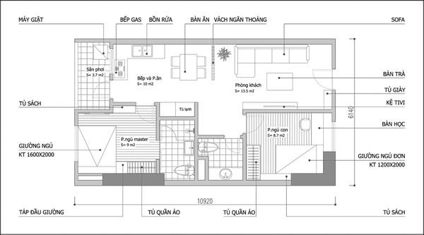 Tư vấn bố trí nội thất khắc phục nhược điểm của căn hộ chung cư 1