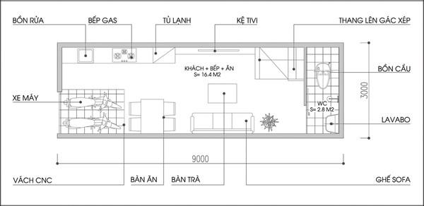 Tư vấn thiết kế và bố trí nội thất cho căn nhà rộng 27m² 1