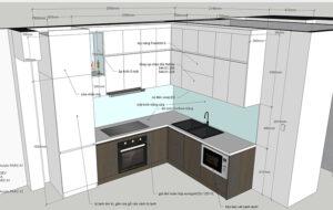 Bản vẽ thiết kế tủ bếp tổng thể - hình 13